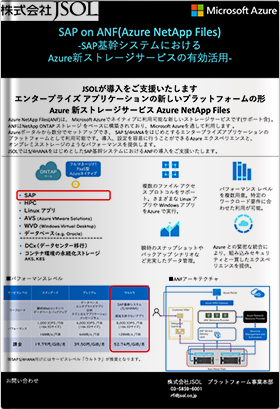 SAP on ANF(Azure NetApp Files) -SAP基幹システムにおけるAzure新ストレージサービスの有効活用-