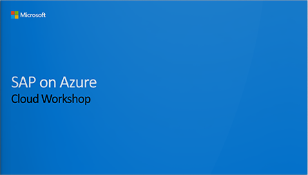 SAP on Azure Cloud Workshop